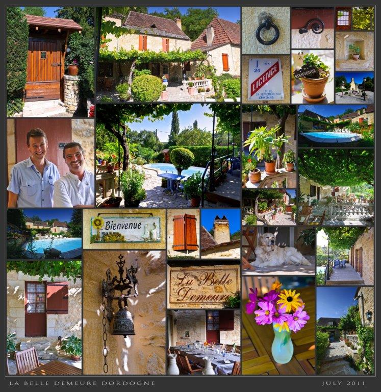 Give a stay as a gift at La Belle Demeure, Bed and Breakfast rooms in the heart of the Périgord Noir, Dordogne near to Sarlat. Pleasantly furnished en-suite guestrooms with comfortable beds, covered with 100% cotton Seersucker linen. Family Suite. Table d'hôtes Evening Meal and Swimming Pool.