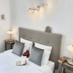 A one bedroomed Suite 26m² in size, lounge & bed measuring 160 cm by 200 cm at La Belle Demeure Bed and Breakfast. In the heart of the Périgord Noir, Dordogne near to Sarlat. Pleasantly furnished en-suite guestrooms & Suites with comfortable beds, covered with 100% cotton Seersucker linen. Bedrooms. Table d'hôtes Evening Meal and Swimming Pool. For our nightly tariff, please look at our website.