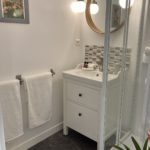 The shower room with separate WC in a one bedroomed Suite